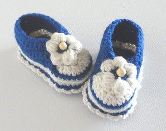 Booties #001 shoes slip ons baby toddler children infant crochet pattern PDF digital item