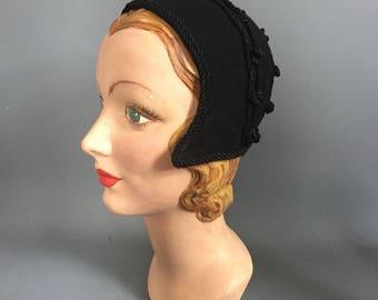 1940s bonnet / Juliette cap