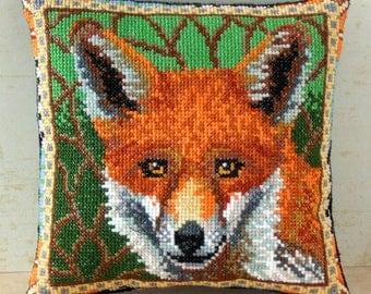 Fox Mini Cushion Cross Stitch Kit