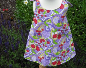 Child's REVERSIBLE sundress with coordinating headband.  100% cotton. Size 2T.
