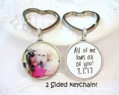 Photo Key Chain Gift for Dad Grandmom Gift 2 Sided Custom KeyChain Pet Memory New Car Gift for Him New Home Gift Keychain Gift Photo Charm