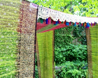 Sari BED CANOPY, TENT, Canopy Bed Curtains, Wedding Chuppah, Bohemian canopy Tent, Indoor/Outdoor lounging, festival pavilion, Glamping tent