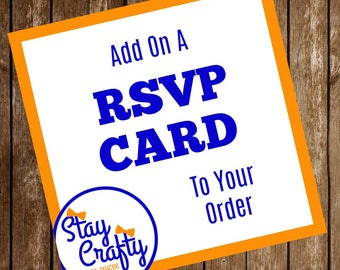 Add On A RSVP Card To Your Order