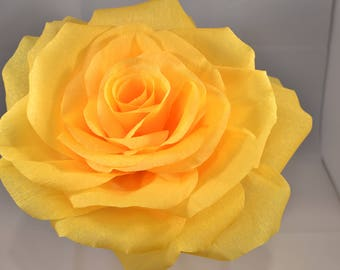 Giant Yellow Paper Flower made of Crepe Paper