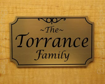 Custom Engraved 4x6 Family Name Plaque Sign | Personalized Home Address Name Plate | Adhesive Backed  sc 1 st  Etsy & Family door sign | Etsy