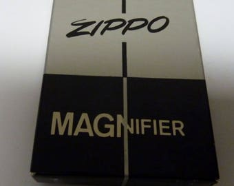 vintage Zippo  magnifier  advertising  grain products with original box and instructions free shipping