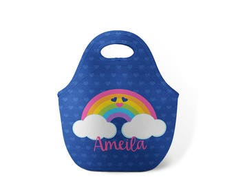 Personalized Lunch Tote - Rainbow Friend - Custom Lunch tote for Children