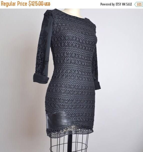 ON SALE Mini Black Dress - OOAK Black Mini Dress - Night Out Black Dress - Night out Dress - Black Dresses - Size 4 Black Dress