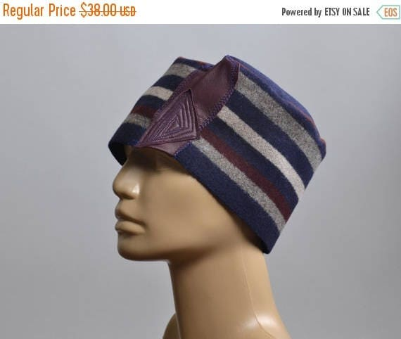 ON SALE Women's Hat - Repurposed Wool Hat - Blanket Hat - Winter Hats - Warm Hats