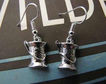 Silver Needle & Thread Earrings