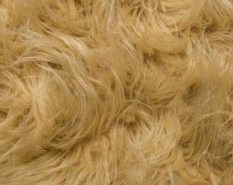 Fun Gorilla Solid Long Pile Faux Fur 58 Inch Camel Fabric by the Yard, 1 yard