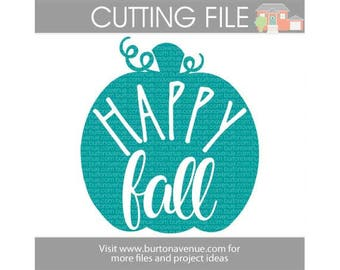Happy Fall - Autumn/Fall SVG files for Cricut, Silhouette, Instant Download