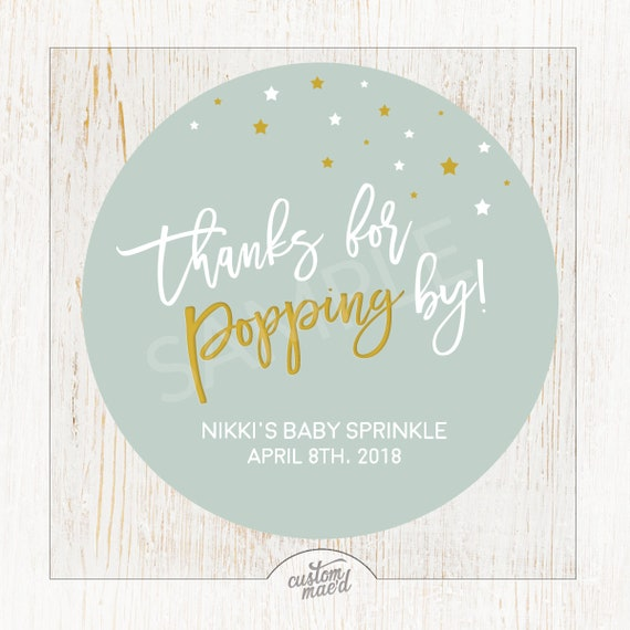 Popcorn Baby Shower Tag Pop It When She Pops Gender Neutral Baby