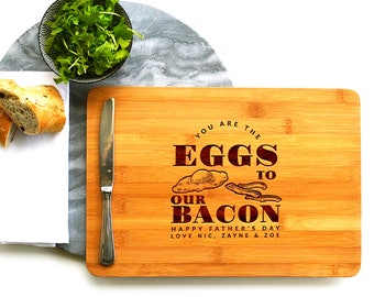 Personalised Chopping Board | Bacon Love | fun gift | cheese board or rectangle.