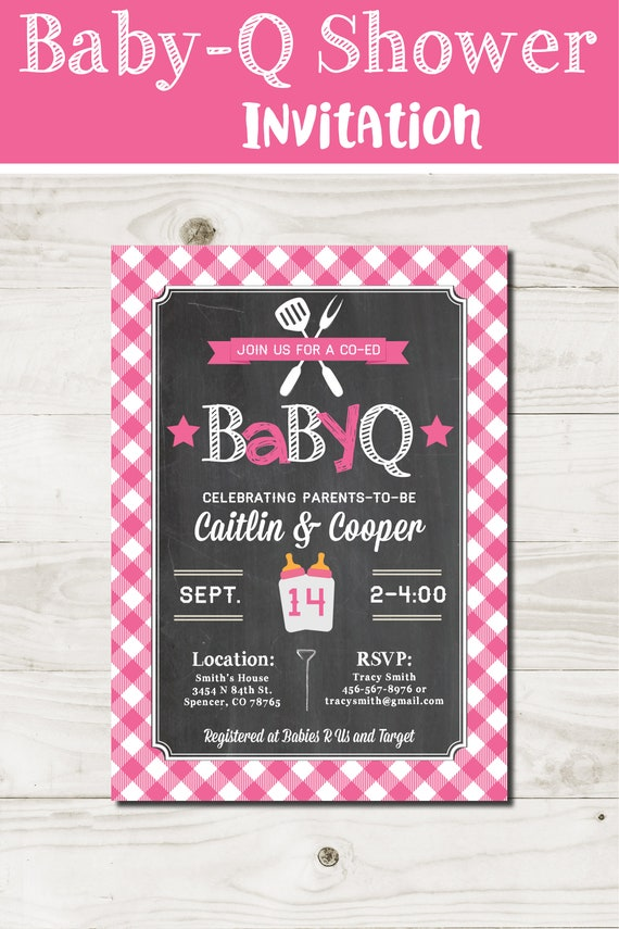Bbq baby shower invite girl baby q invitation printable by coral il570xn filmwisefo