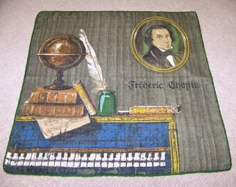 Vintage Frederic ChopinHanky Music Hanky Piano Hanky Composer Hanky