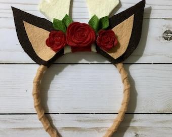 Deer Ears || Deer Antlers || Reindeer Antlers || Flower Headband || Woodland Baby || Fall || Christmas