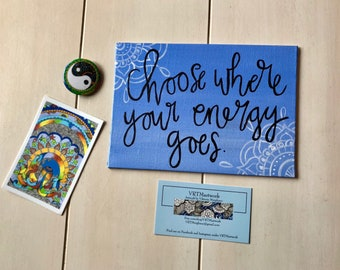 """5"""" X 7"""" Free Hand Quote Painting and Bundle!"""