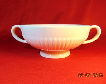 "One (1), 2 1/8"", Footed Cream Soup Bowl, from Wedgwood China, of England, in the EDME pattern. Newer Mark."