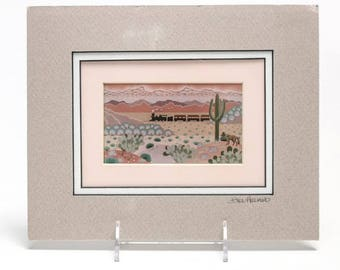 Southwest Inspired Signed Small Lithograph Art