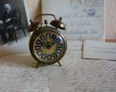 "Small Brass Germany ""Jerger"" Alarm Clock, Circa 1950s"