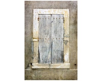Grey Shutters Photo, Silver Gray, South of France, Neutral Colors, Wabi Sabi