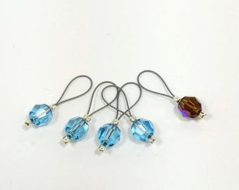 "Swarovski Crystal Stitch Markers - ""Cinderella Knits"""