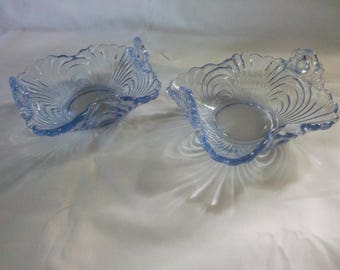 Moonlight Blue Caprice Dishes - Nut Dishes - Cambridge Caprice Dishes - Caprice Dishes - Blue Caprice Dishes