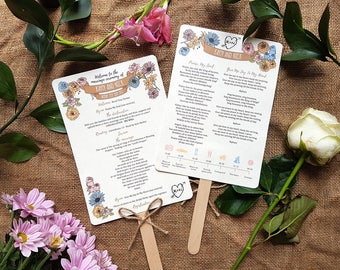 WHIMSICAL WOODLAND order of service fan x 40