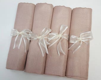 4 SET NUDE ( light beige) PASHMINA ShawlL. Nude Shawl. Bridesmaid gifts. Bridesmaid shawls. Pashmina Scarf. Wedding favor.