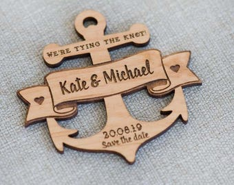 10+ Anchor Save the Date Wood Cut