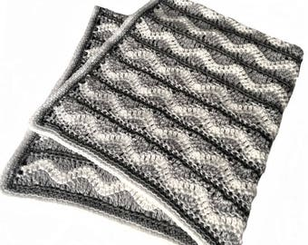 Crochet chevron baby blanket 42 x 40 in. READY TO SHIP
