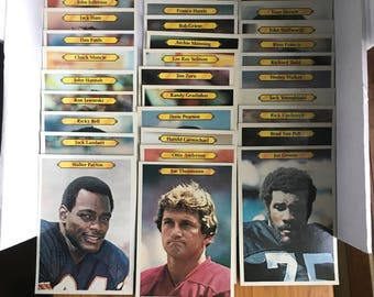 Vintage 5 x 7 size giant topps football cards set of 30 cards 1980