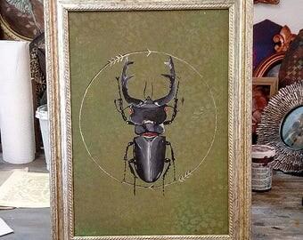 Black Beetle /Acrylic on canvas