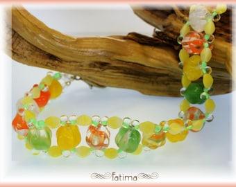 Yellow Melon Sorbet Bracelet -