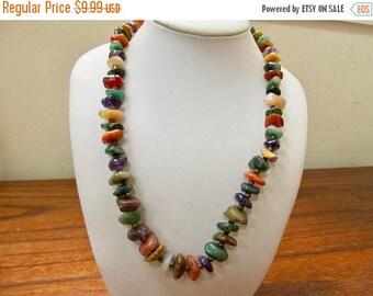 On Sale Vintage Genuine Polished Stone Necklace Item K # 735