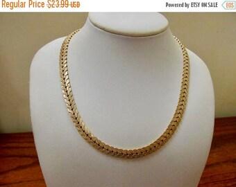 ON SALE WINARD Vintage 12kt Gold Filled Textured Collar Necklace Item K # 495