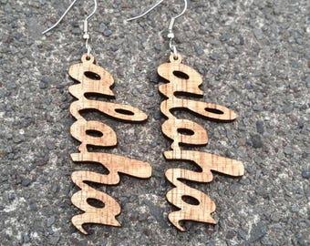Koa Earring -Aloha-