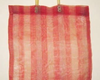 Beautiful Vintage Russian Soviet Market Bag Shopping USSR Soft Plastic