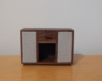 Miniature Modern 1:12 Scale Record Cabinet