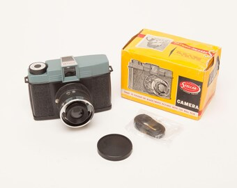 Vintage Rare STELLAR Diana Clone Plastic Camera - 120 Format Film - Never Used with Box and Strap