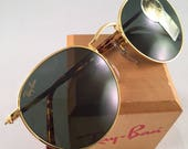 Vintage Ray Ban Bausch And Lomb Round W1857 Round Tortoise Sunglasses 50mm