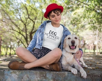 Dog Momager Crewneck T-Shirt for Dog Moms | Customize With Your Dog's IG Handle!