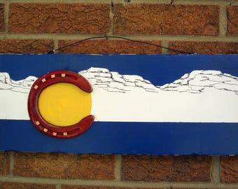 Colorado flag plaque, state flags, flag plaques