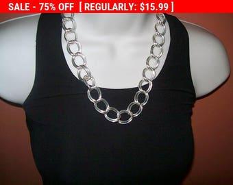 Vintage silvertone chain necklace, estate jewelry, chain
