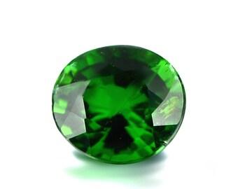 0.61ct Chrome Green Tourmaline 5x4mm Oval Shape Loose Gemstones (Watch Video) SKU 609C002