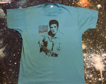Vintage Elvis Presley Soft Blue T-Shirt