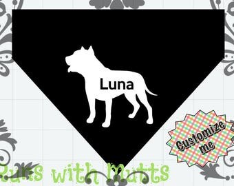 Dog Bandana Slip Collar Through - Personalized with Your Dog's Name