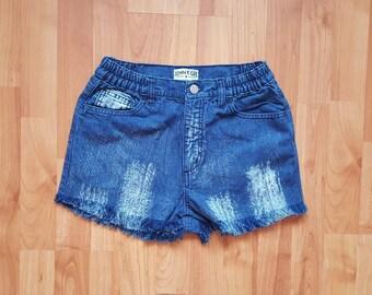 Fringe denim shorts | Etsy