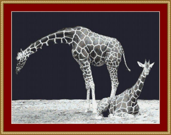 Giraffes Cross Stitch Pattern /Digital PDF Files /Instant downloadable
